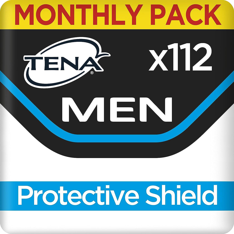 TENA Men Escudo Protector, Compresas - 112 Unidades: Amazon.es: Salud y cuidado personal