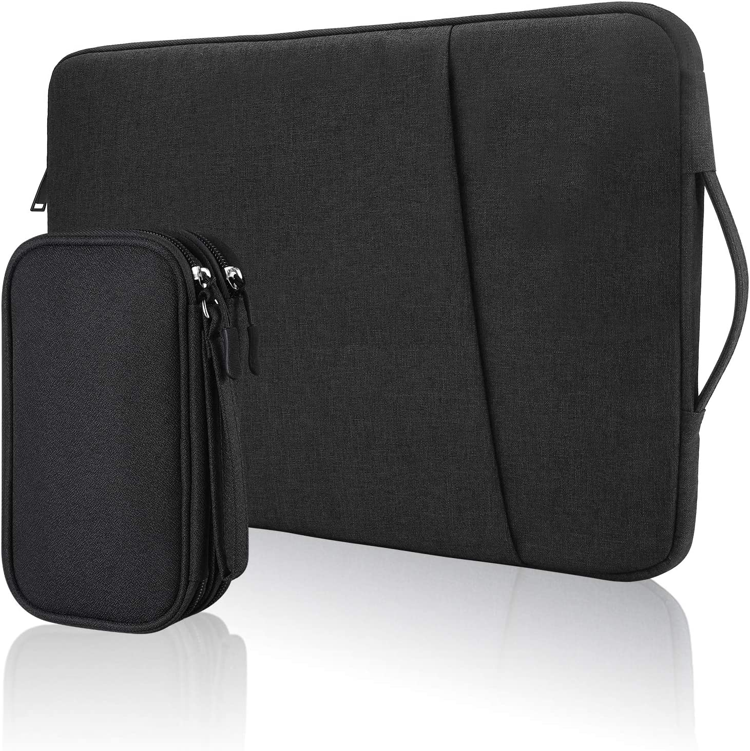 Bevegekos 14 Inch Chromebook Case Sleeve with Travel Tech Organizer Bag, Splashproof, for School Kids, College Students and Office Workers (Black)
