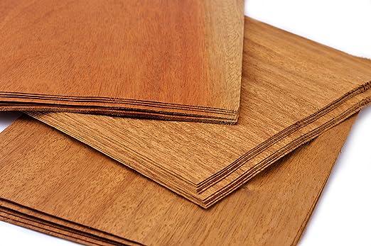 Modellbau Bastelset Holz Furnier Set Eiche Echtholz Teak Nussbaum Intarsien uvm 17 Varianten Set I