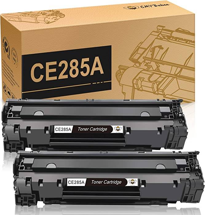 CMYBabee Compatible Toner Cartridges Replacement for HP 85A CE285A for HP Laserjet Pro P1102w P1109w M1212nf M1217nfw MFP Printer(Black, 2-Pack)