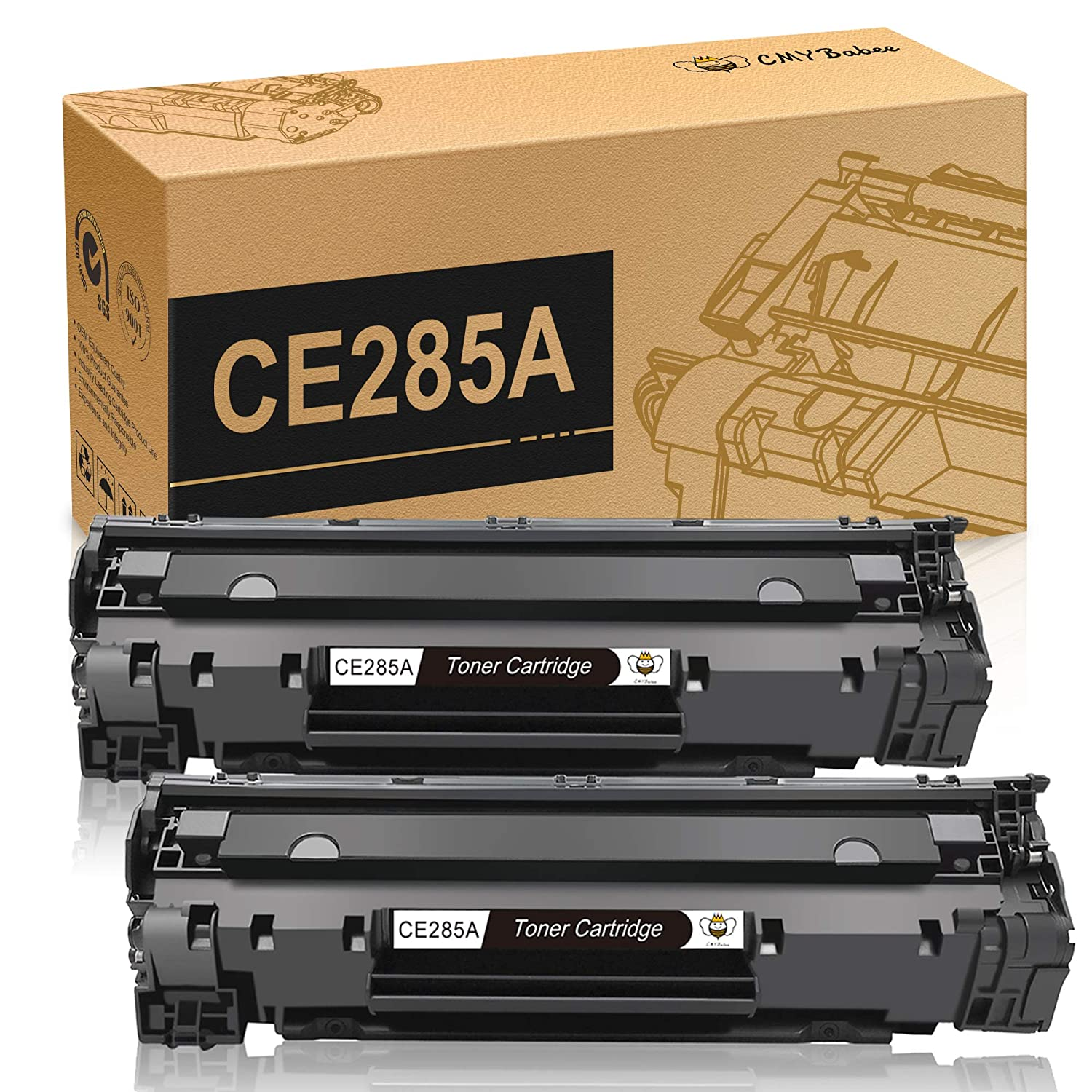 Amazon.com: CE285A 85A Black Laserjet Toner Cartridge CMYBabee 2 Pack  Replacement Toner Compatible for Canon 125 and HP Laserjet Pro M1132 M1210  M1212NF ...