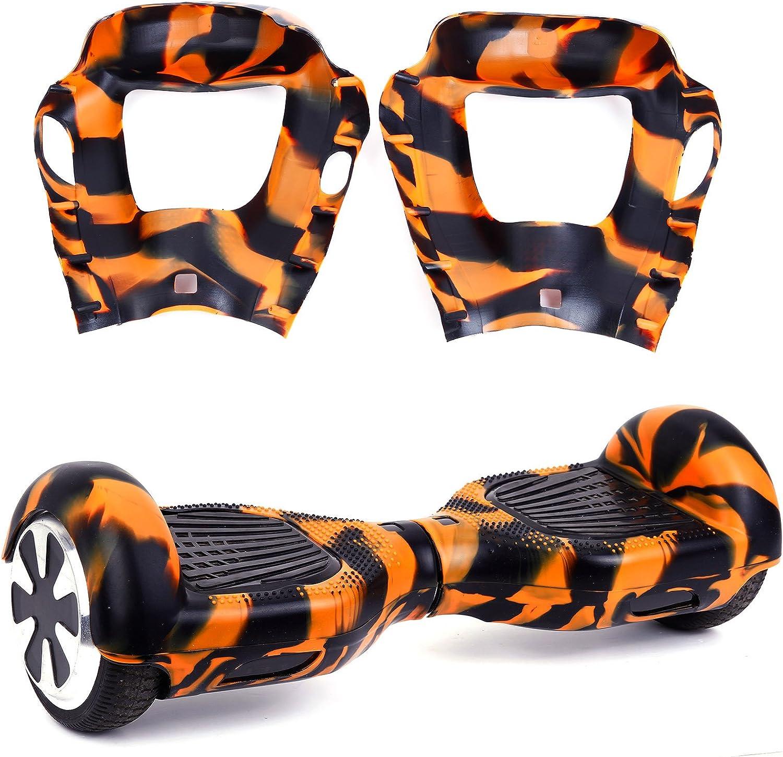 Surepromise Noir et Orange Housse De Protection Silicone pour 6,5 Auto Balance Scooter Hoverboard Scooter equilibre