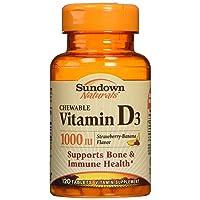 Sundown Naturals Vitamin D3 1000 Iu, 120 Chewable Tablets