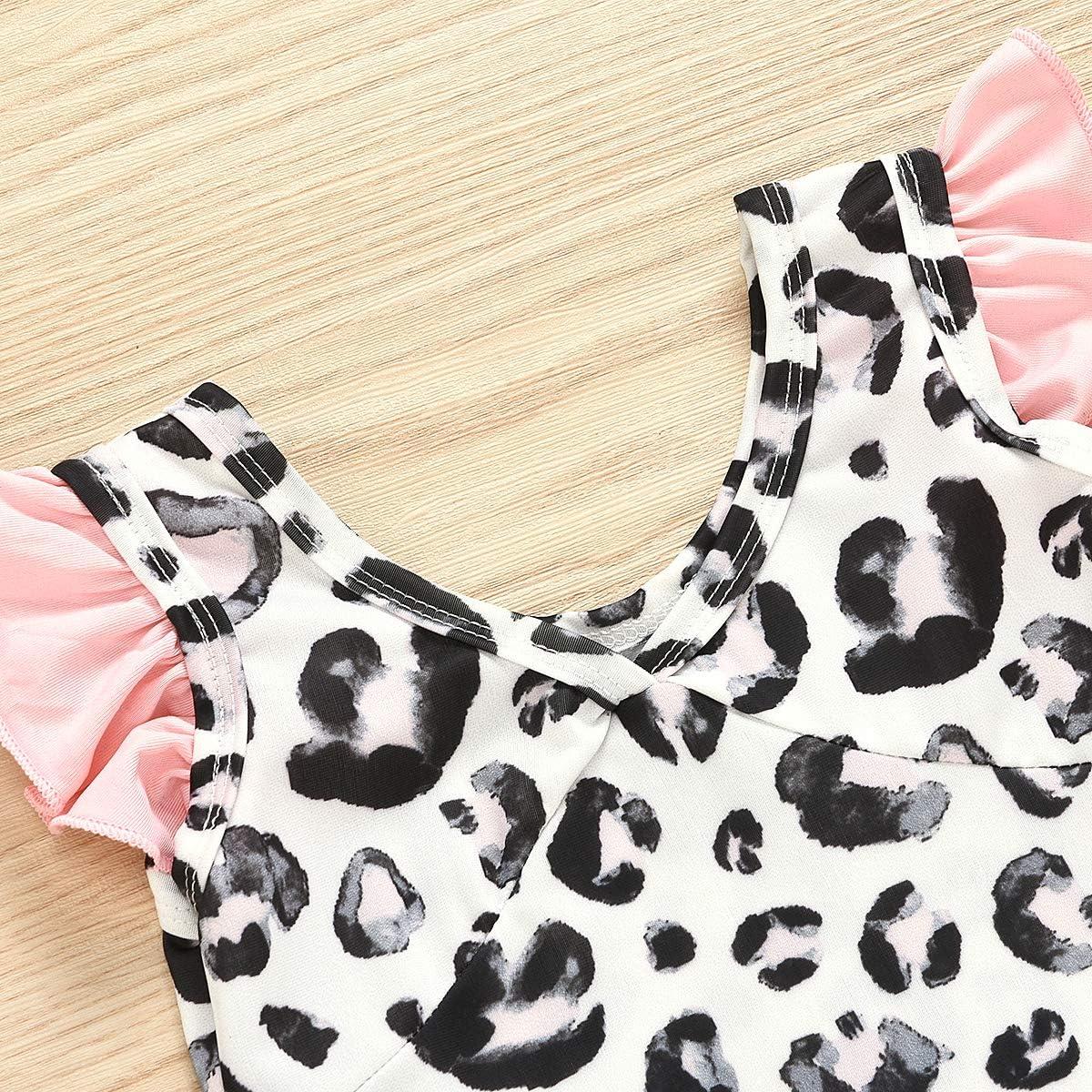 Kosusanill Newborn Toddler Baby Girl One Shoulder Swimsuit Infant One Piece Bathing Suit Beach Wear Sunsuit