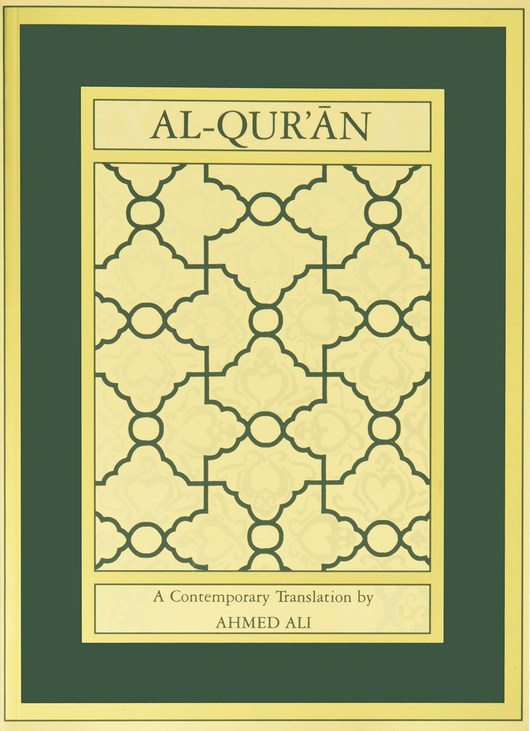 Al qur an a contemporary translation ahmed ali 9780691074993 amazon com books
