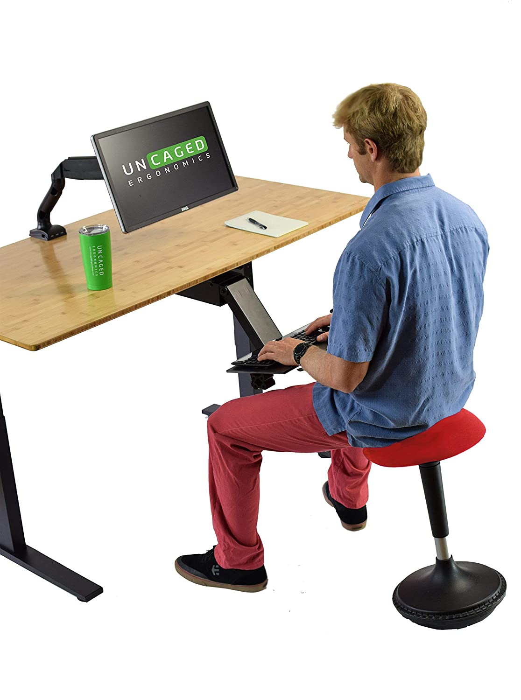 color rosso 13 Round Seat Uncaged ergon/ómico Sit activamente escritorio de pie taburete