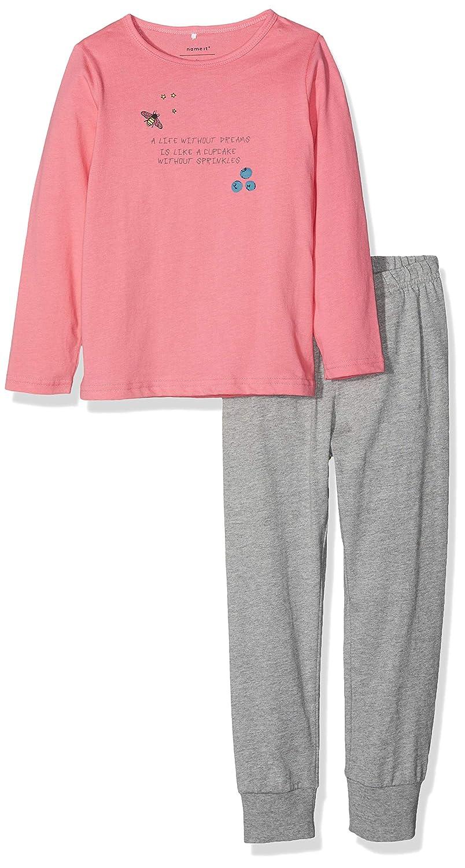 2e3ca92fd4 NAME IT NAME IT Mädchen Zweiteiliger Schlafanzug Schlafanzüge: Amazon.de:  Bekleidung