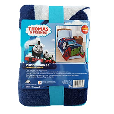Thomas & Friends Thomas the Tank Engine Blue & Red Bed Blanket (Twin) 62 x 90: Kitchen & Dining