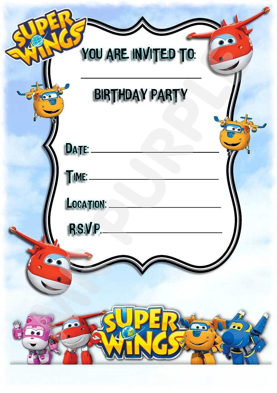 Invitaciones para fiesta de cumpleaños de Superwings ...