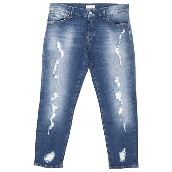 rich   royal, Damen Jeans Hose, Ex-Boyfriend,Stretchdenim,Blue Vintage   20946   Amazon.de  Bekleidung bd216f176f