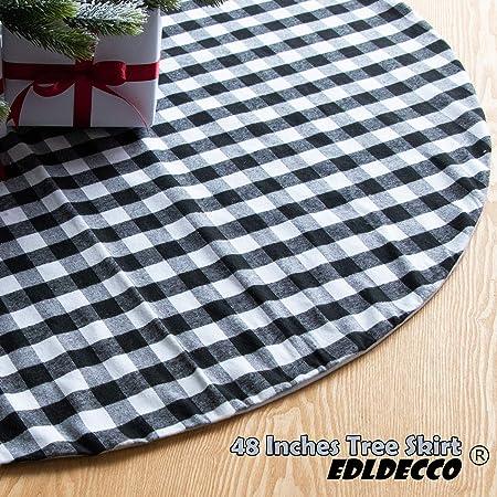 Topker Falda de árbol de Navidad de 54 Pulgadas, Color Rojo y ...