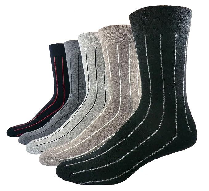 Calcetines De Hombre Rayas Verticales Pack De 5 - algodón, Más Colores, 17%