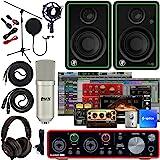 Focusrite Scarlett 2i2 2x2 USB Audio Interface Full Studio Bundle with Creative Music Production Software Kit and CR4-X…