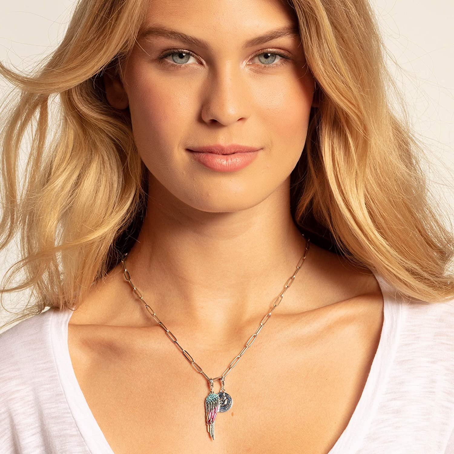Thomas Sabo Femmes-Charm-Pendentif Coin Colombe Charm Club Argent Sterling 925 1701-637-21