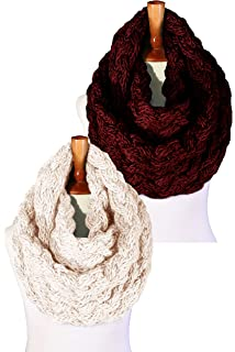 a1fe7c80de15e Basico Women Winter Chunky Knitted Infinity Scarf Warm Circle Loop Various  Colors