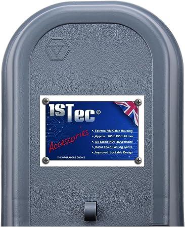 Caja de conexiones externa para teléfono,banda ancha,divisor,antena de TV, digital, cables, conexión de televisión,fibra óptica,exterior,estuche ...