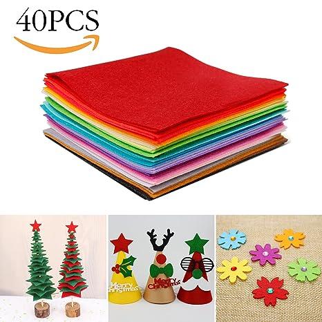 Tronisky Hoja de Fieltro, 40 Colores No Tejido Tela de Fieltro Suave Felt Fabric Sheets