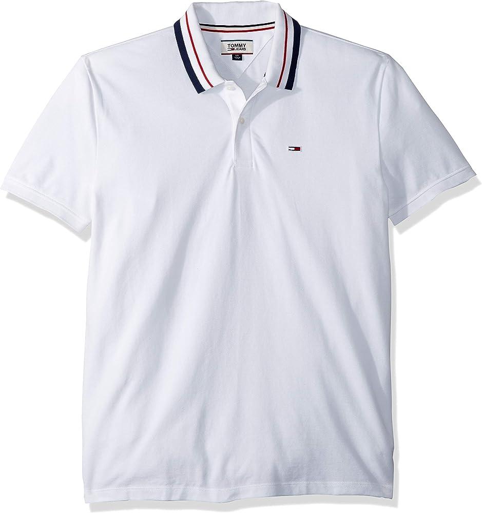 Tommy Jeans Polo Classics Blanco XL Blanco: Amazon.es: Ropa y ...