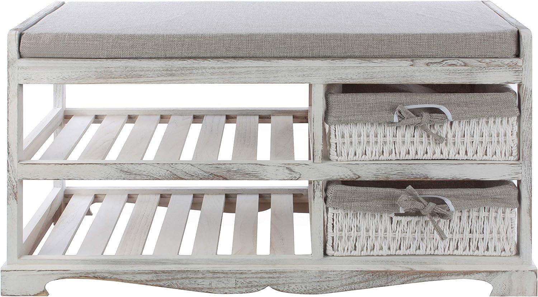 Braun K1-Serie! Sitzkommode mit Sitzkissen In 3 Ausf/ührungen K/örben und Gestellen Bingo-Shop Elegante und Klassische Sitzbank