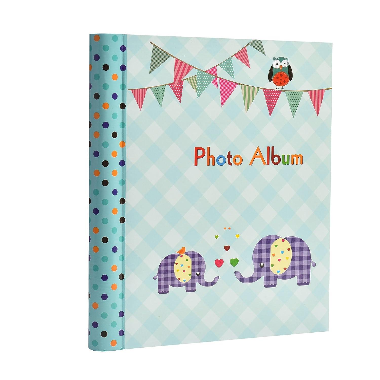 Gran bebé autoadhesivo 20/hojas, 40/lados–Álbum de fotos infantil de elefante–ideal regalo rosa rosa ARPAN