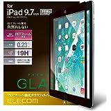 エレコム iPad 9.7 保護フィルム ガラス フレーム付 ブラック TB-A18RFLGFBK