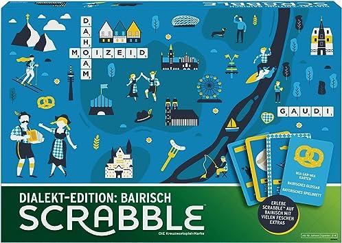 Mattel Games GPW44 – Scrabble Dialekt Edition Bayern Juego de Palabras y Juego de Mesa Adecuado para