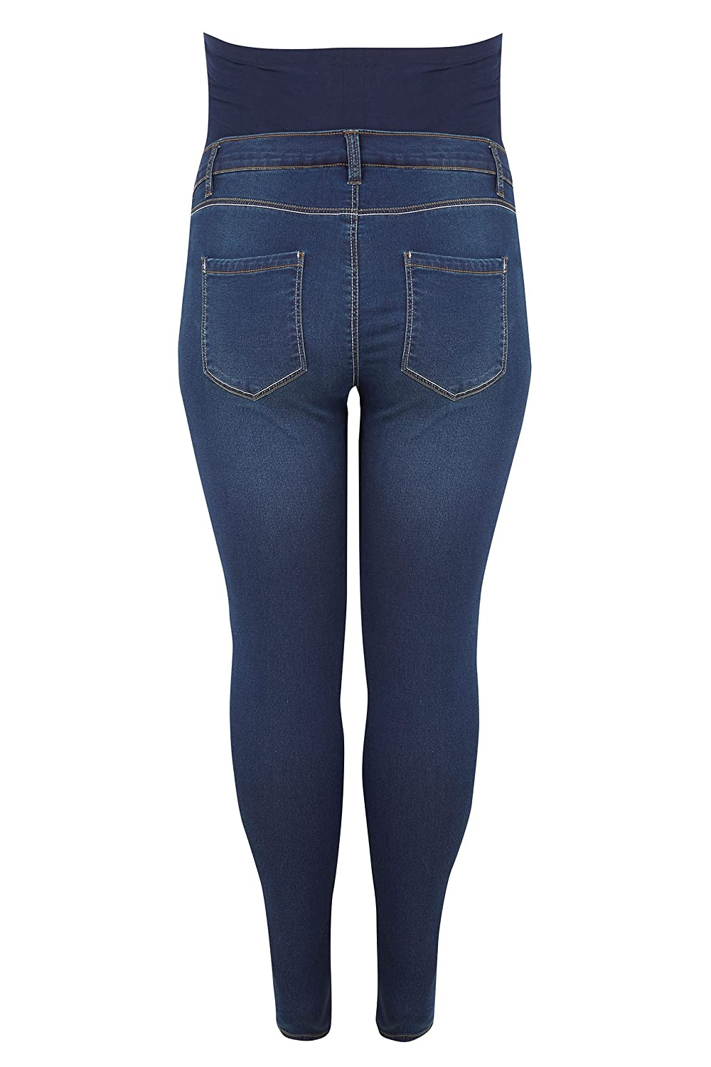 60aa0896166c5 Yours Women s Plus Size Bump It Up Maternity Super Stretch Skinny Jeggings  with Comfor  Amazon.co.uk  Clothing