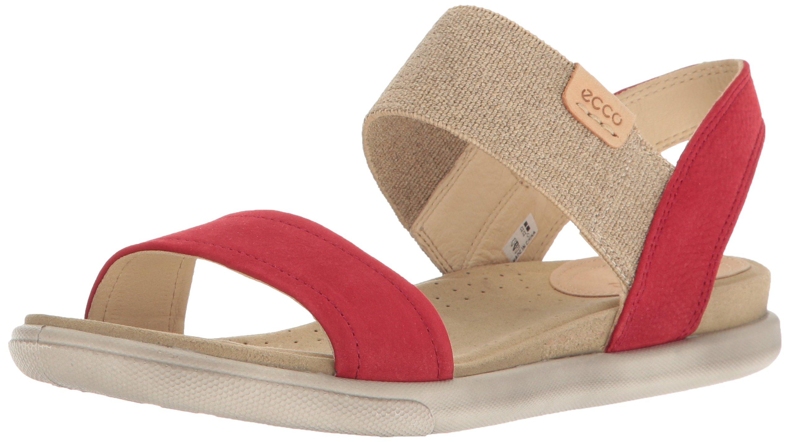 ECCO Women's Women's Damara Ankle Gladiator Sandal, Chili Red/Powder, 37 EU/6-6.5 US
