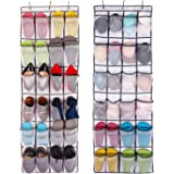 ComboCube White Large 24-Pocket Over-the-Door Hanging Shoe Organizer