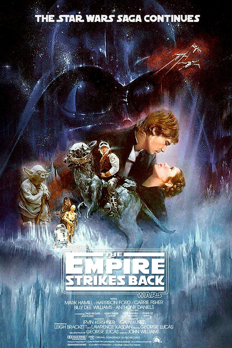 777 Tri-Seven Entertainment Star Wars The Empire Strikes Back Poster Movie Art Large Print (24x36)
