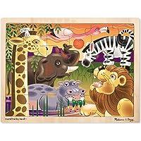Melissa & Doug African Plains Wooden Jigsaw Puzzle, Preschool, Sturdy Wooden Construction, 24 Pieces, 39.497 cm H × 29.464 cm W × 0.889 cm L
