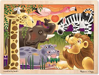 Melissa & Doug African Plains Jigsaw Puzzle 24 pc