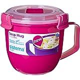 Sistema Microwave Soup Mug To Go, Assorted Colours, 565 ml