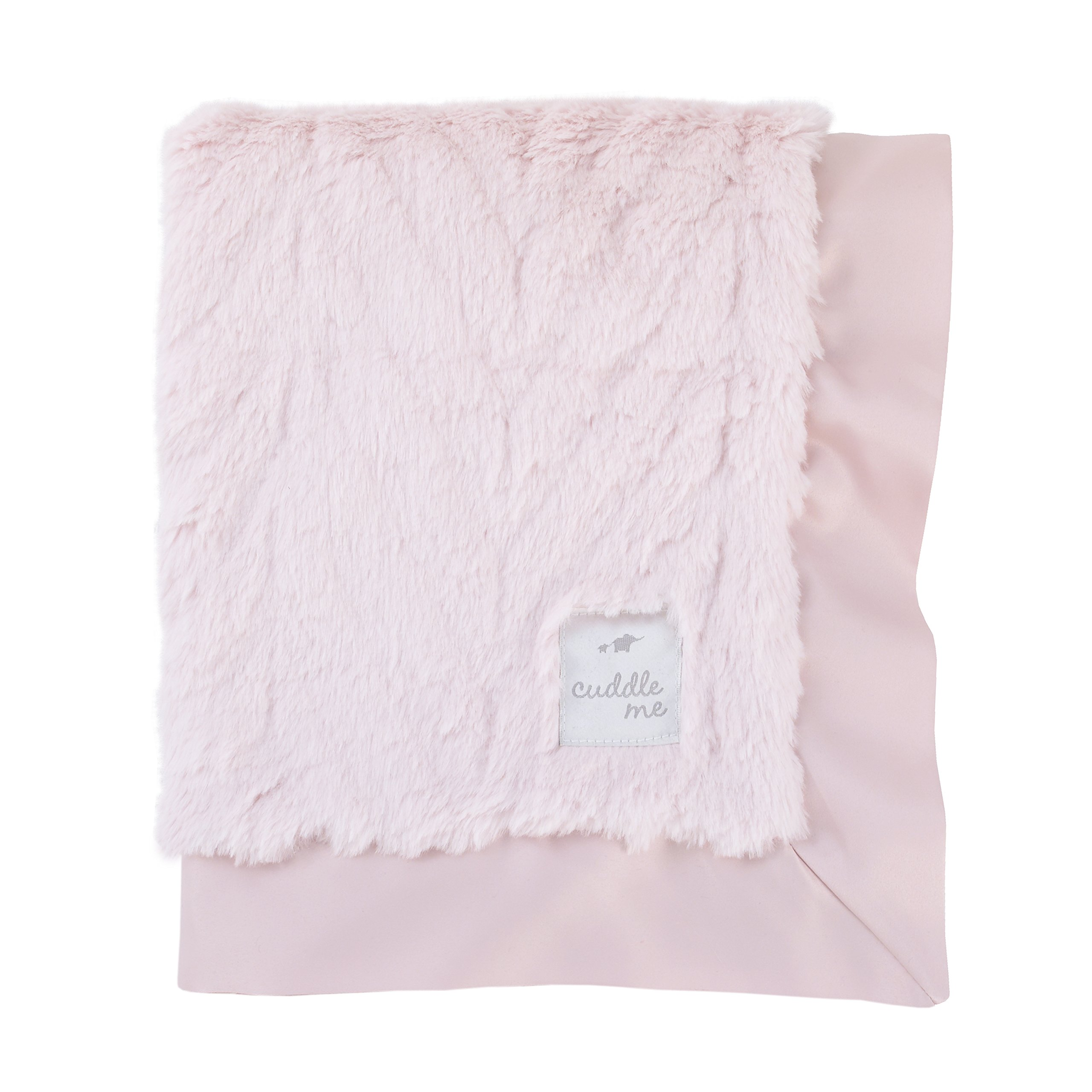 Cuddle Me Luxury Plush Chevron Blanket with Matte Satin Border, Pink by Cuddle Me