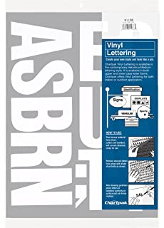 Amazoncom Chartpak SelfAdhesive Vinyl Numbers Inches High - Self adhesive vinyl letters