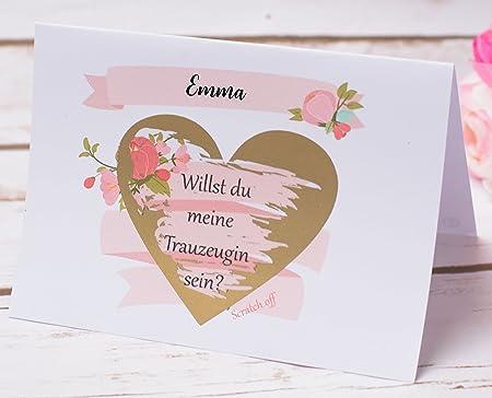 Happy Wedding Art Rubbellos Karte Willst Du Meine Trauzeugin Sein