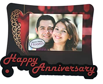 862ff131321 Buy Digital Vision Happy Wedding Anniversary Photo Frame Gift Online at Low  Prices in India - Amazon.in