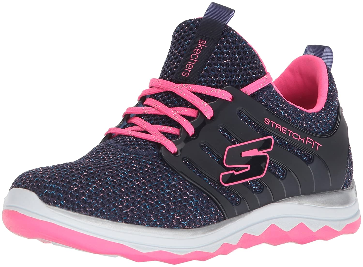 Skechers Diamond Runner, Zapatillas de Running para Niñas, Azul (Navy/Hot Pink), 37 EU 81561L