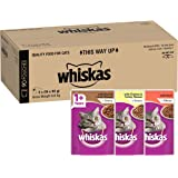 Whiskas Mixed Selection in Gravy Wet Cat Food 85g Pouch, 90 Pack, One Size