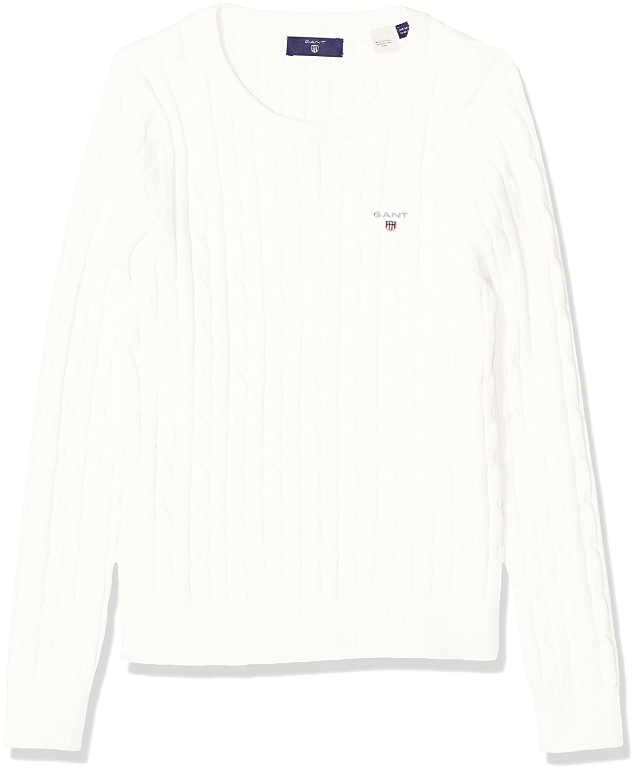 Gant Girl Stretch Cotton Cable Sweater Jumper 683960