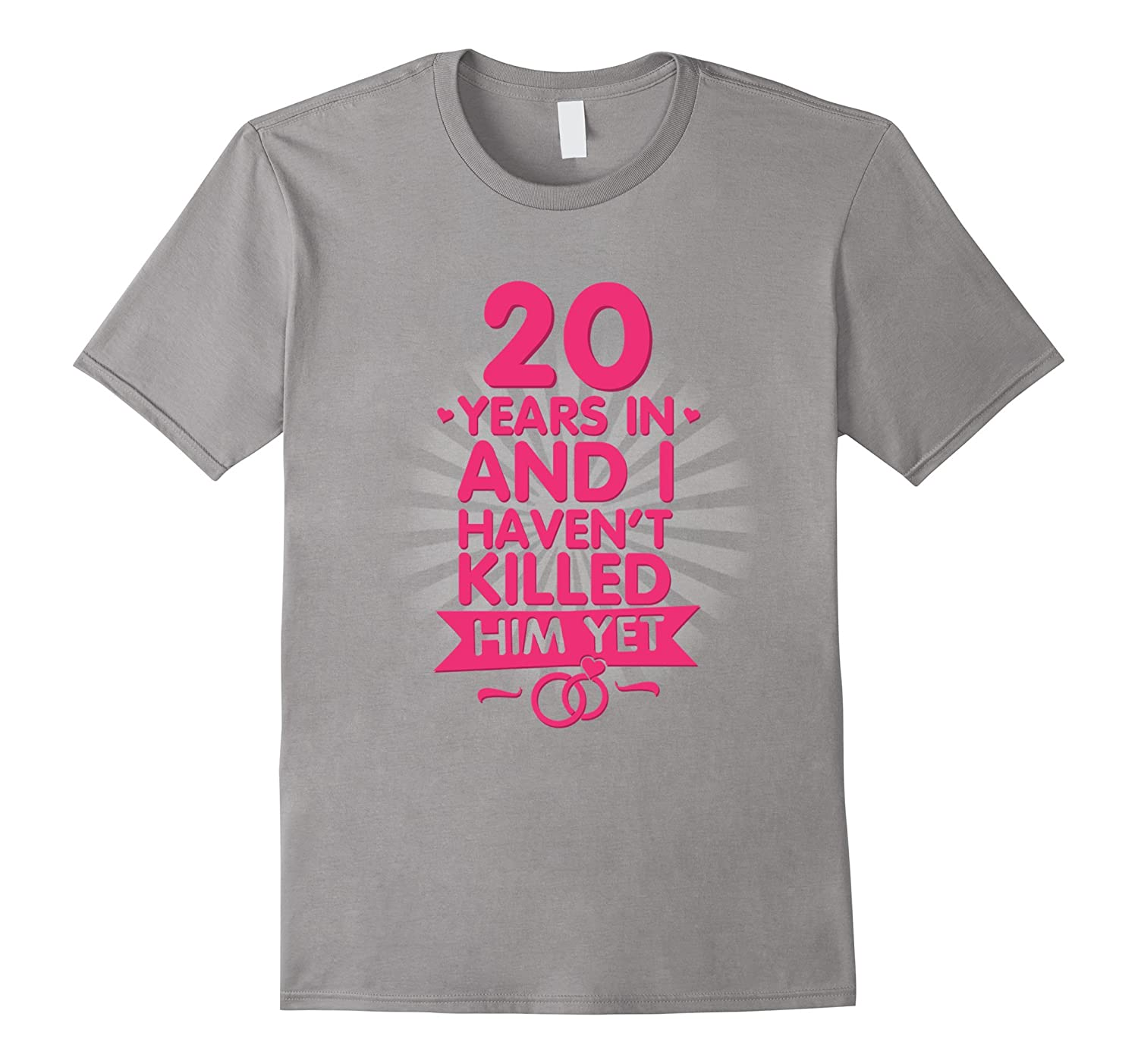 20 Years of Marriage T shirt 20th Anniversary Gift for Wife-PL ...
