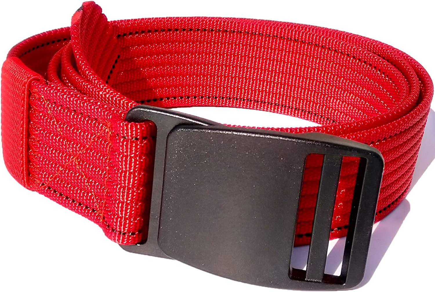 L XL Airport Casual 100/% Nylon Belt For Men With Plastic Buckle Metal Free