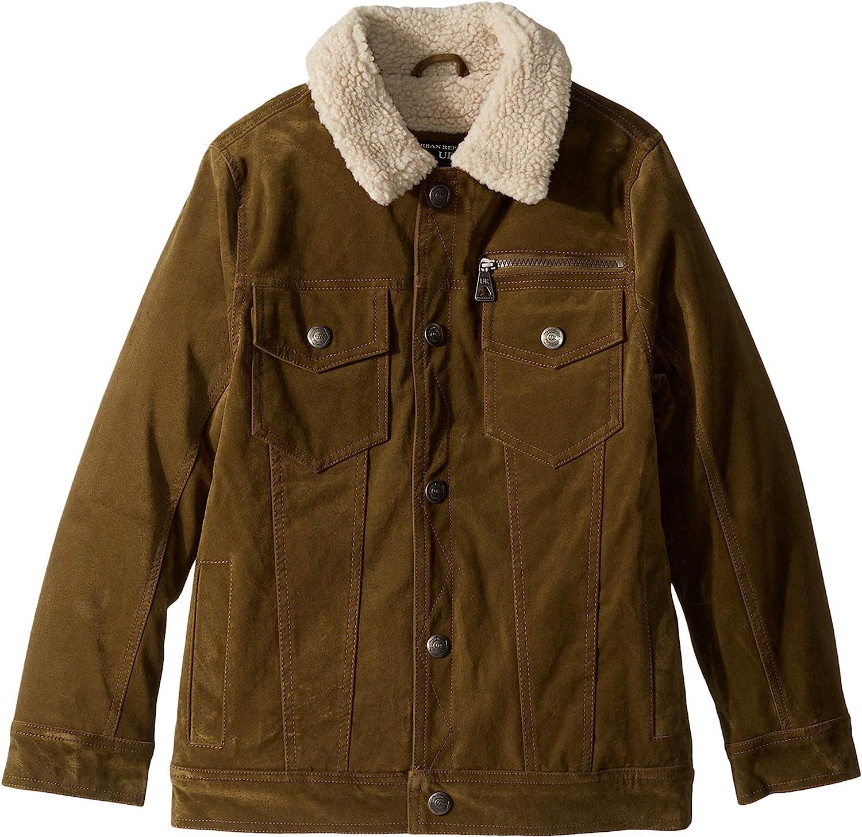 Urban Republic Kids Mens James PU Suede Shepra Lined Five-Pocket Jacket (Little Kids/Big Kids)