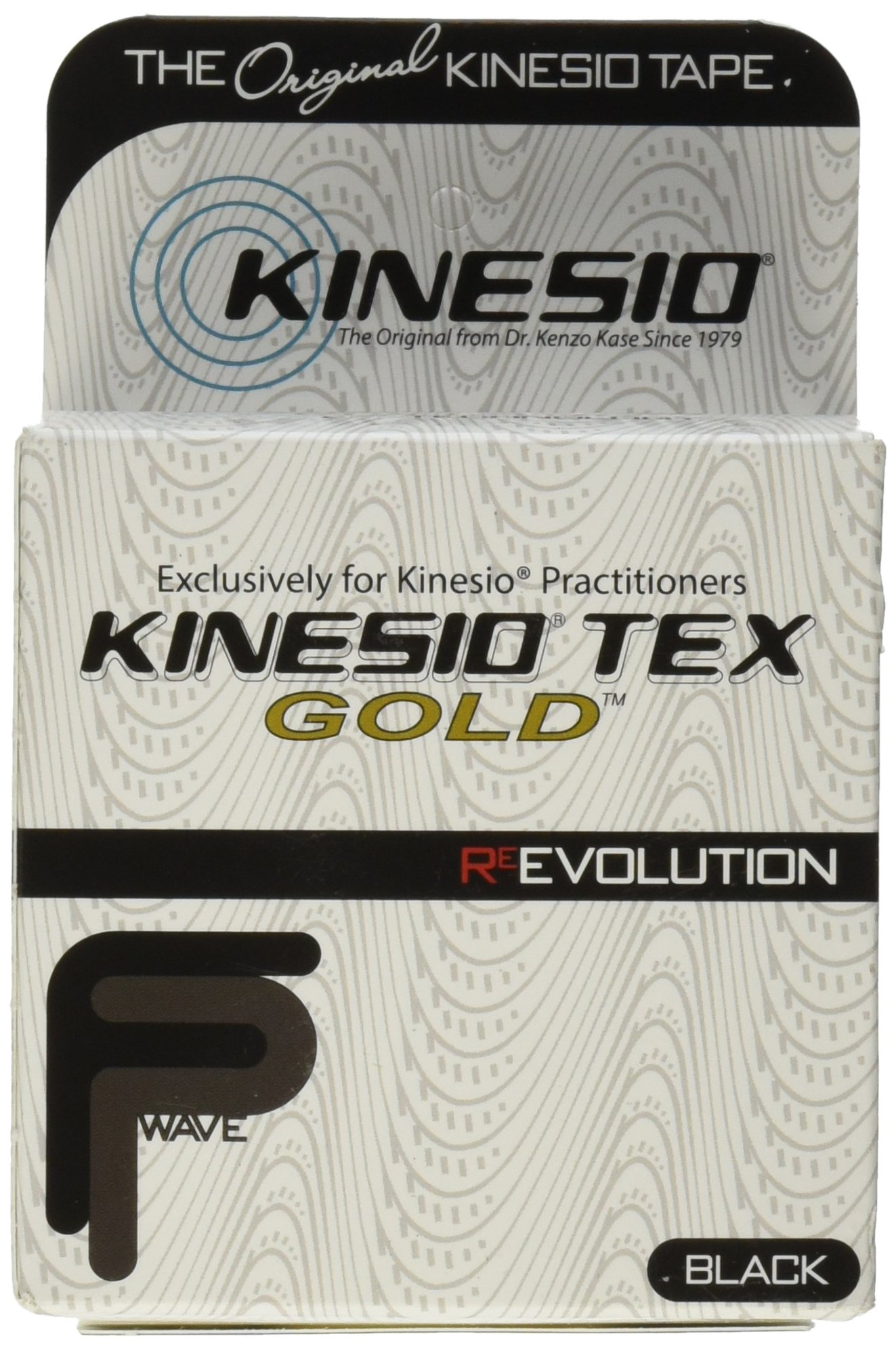 Kinesio Tex Gold Finger Print Tape, Black