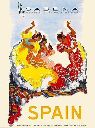Amazon.com: MAGNET Spain Spanish Europe Sabena European ...
