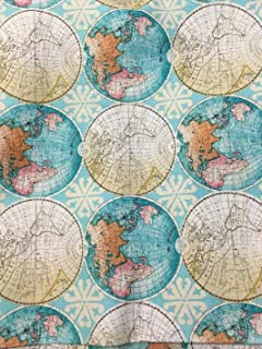 Amazon spoonflower world map fabric world map vintage rand mcnally world map maps globe cotton fabric by the yard gumiabroncs Gallery
