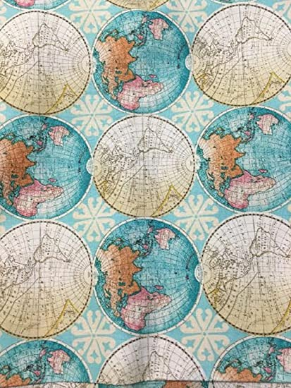 Amazon rand mcnally world map maps globe cotton fabric rand mcnally world map maps globe cotton fabric by the yard gumiabroncs Image collections