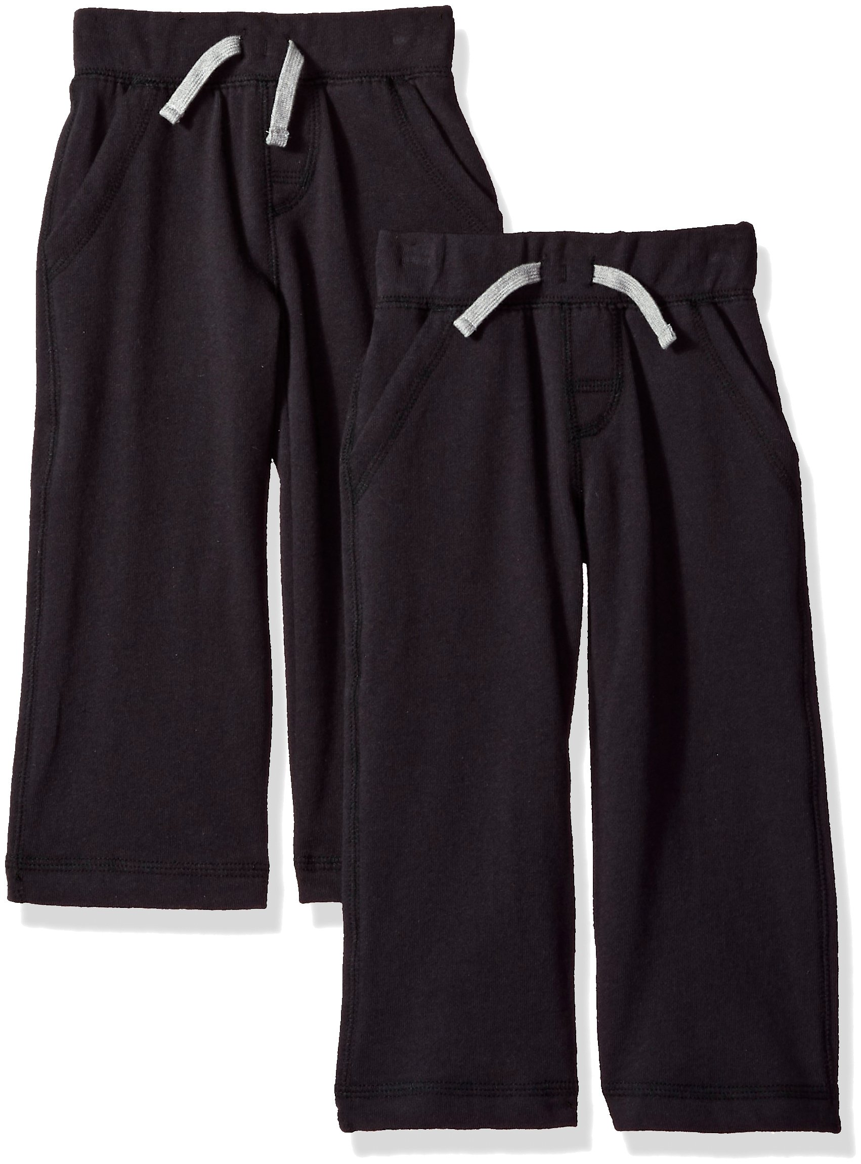 Gerber Graduates Toddler Boys' 2 Pack French Terry Pant, Black, 4T