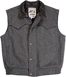 product image for Schaefer Outfitters Mens Vests Ranchwear 715 Competitor Vest in Wool with Full Grain Leather Collar