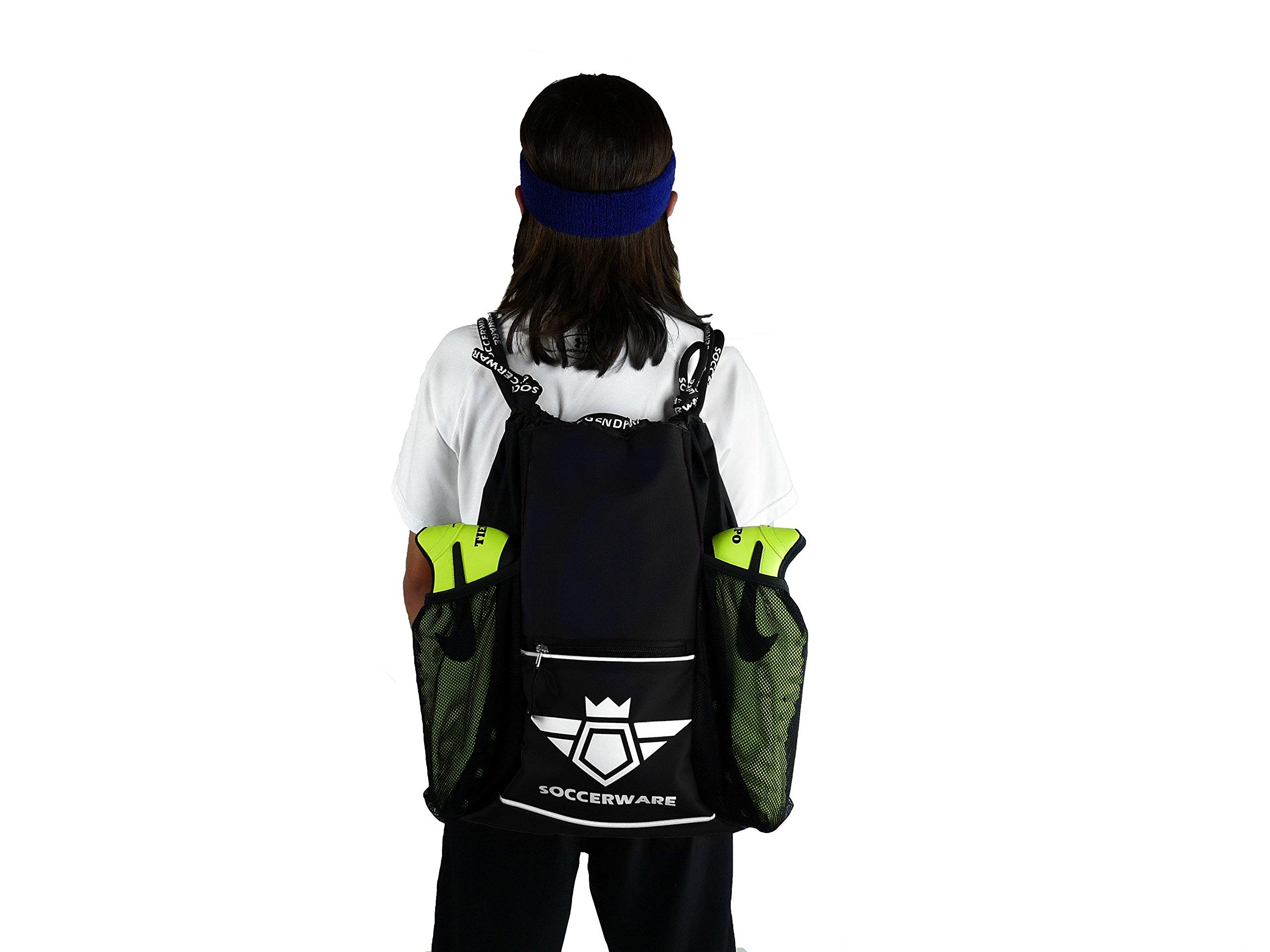 Soccer Bag Backpack with Ball Holder Pocket For Kids Youth Boys Girls School Sackpack